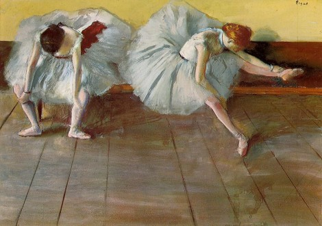 Edgard Degas, Two Ballet Girls, ca. 1879