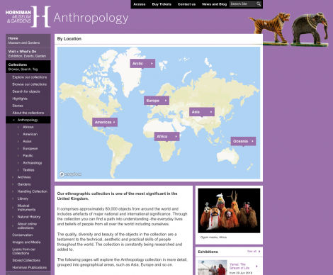 Horniman interactive map