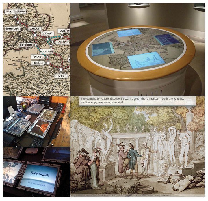 The Grand Tour interactive in the museum and some close ups.