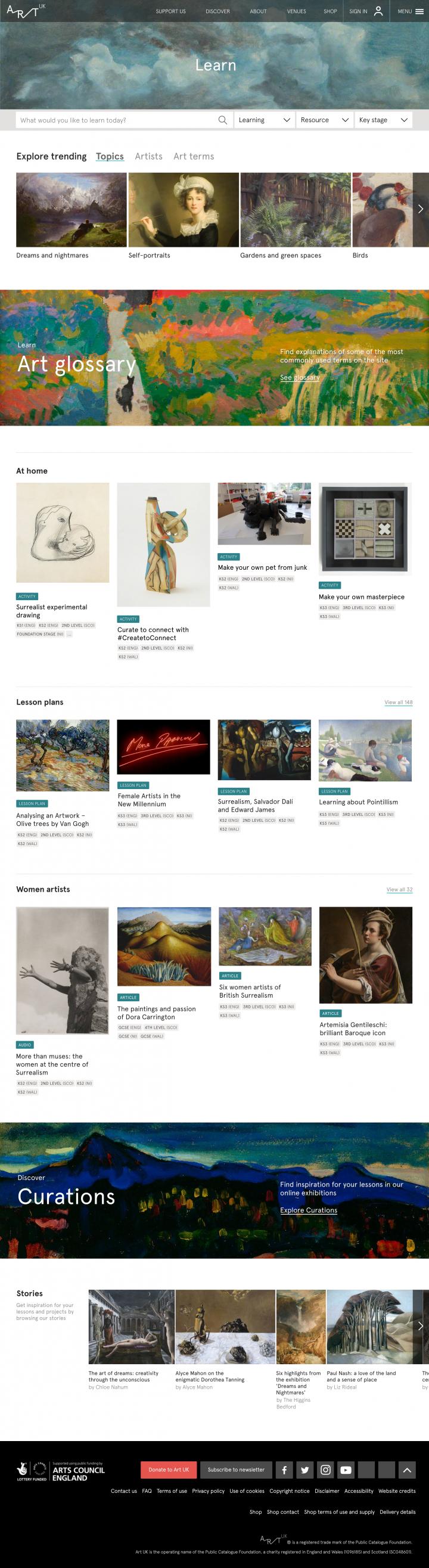 Art-UK-Learning-Portal_Home