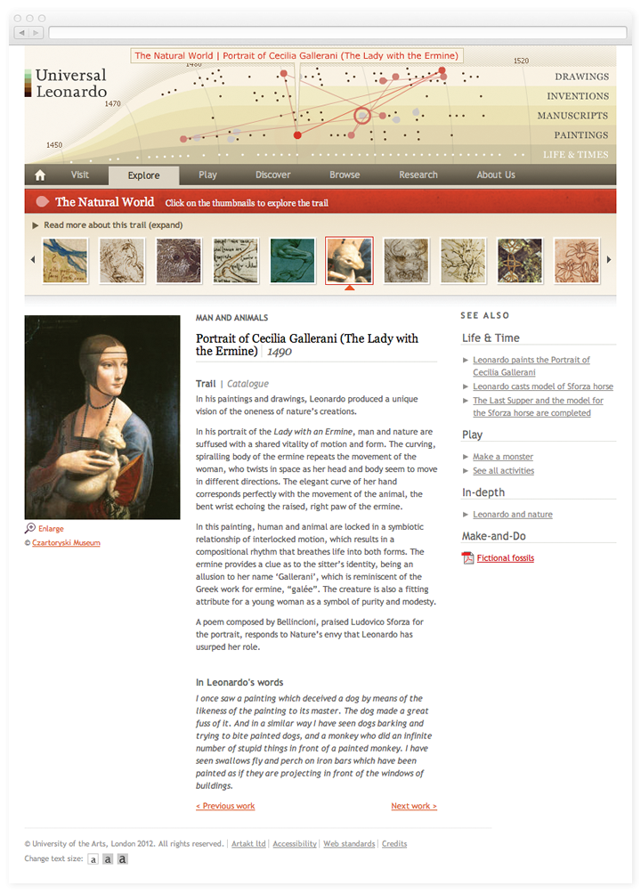 Screen of the Universal Leonardo theme page.