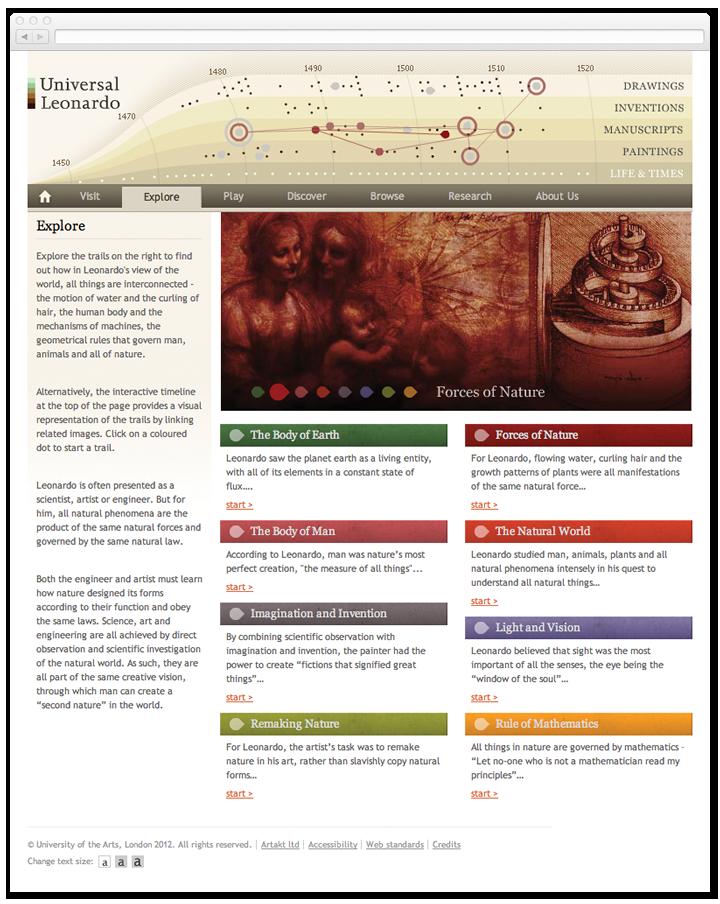 Screen of the Universal Leonardo themes listing page.