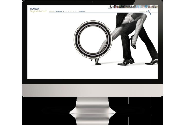 The Norkin Digital Art website on a desktop computer.