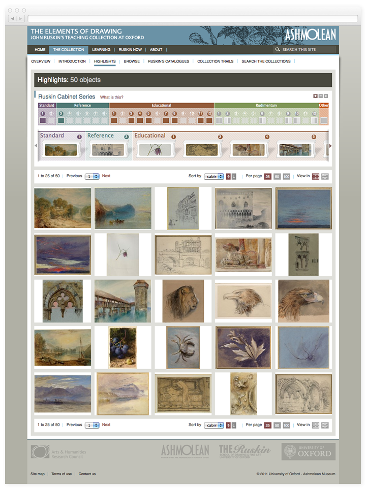 Screen of the Elements of Drawing highlights page.