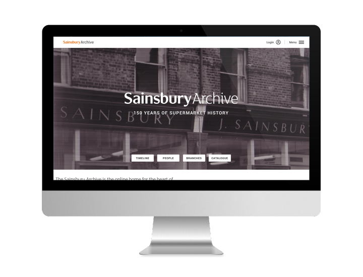 Sainsbury Archive homepage