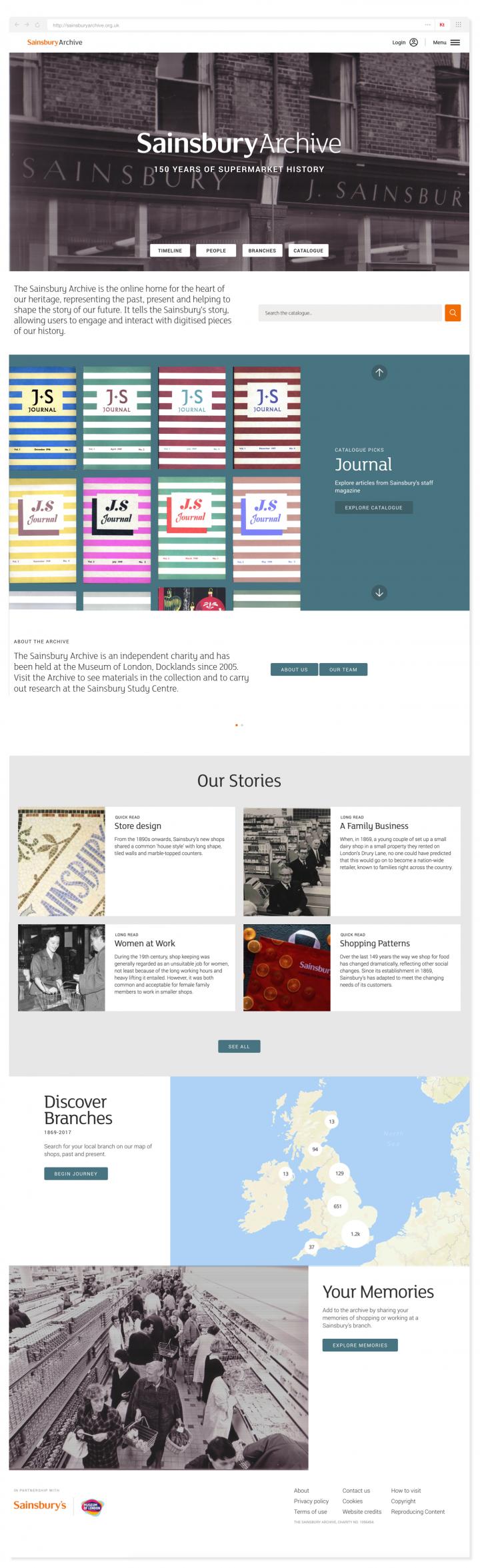 Sainsbury Archive homepage in full