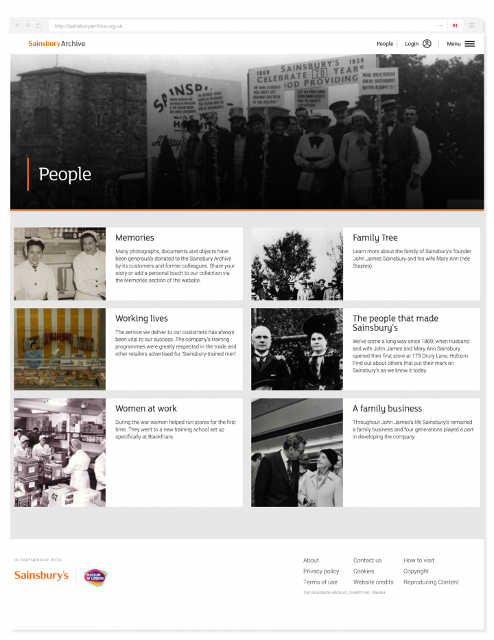 Sainsbury Archive people